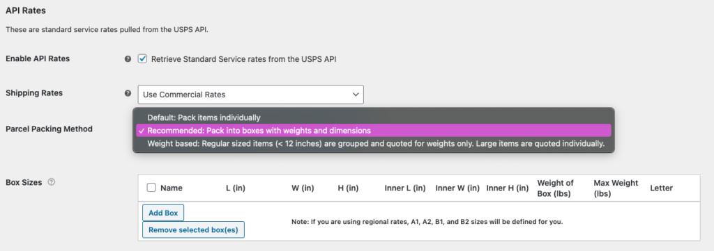 WooCommerce USPS Shipping Integration - USPS API Box Packer