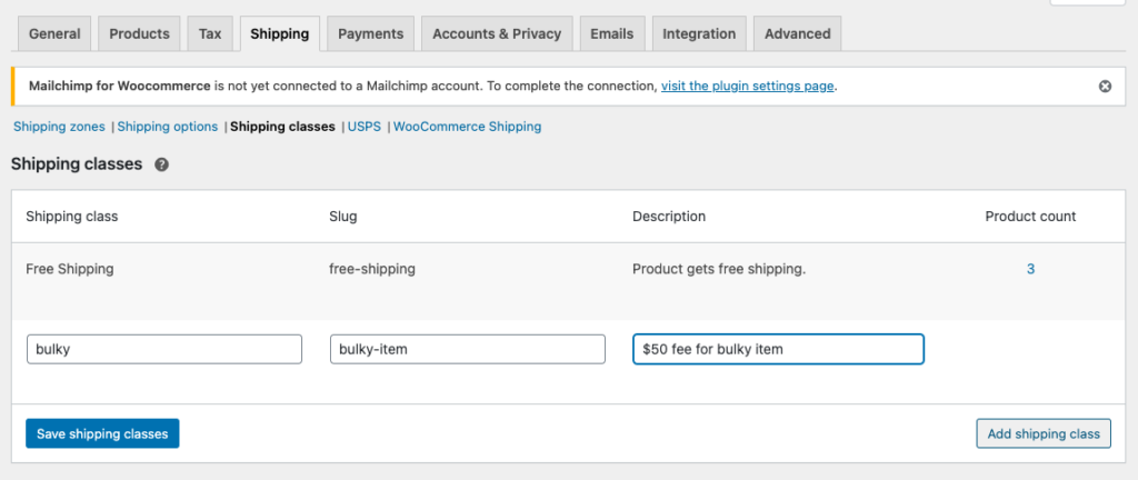 WooCommerce USPS Shipping Integration - Shipping Bulky Items